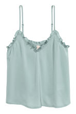 Satin strappy top - Dusky green - Ladies | H&M 2