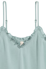 Satin strappy top - Dusky green - Ladies | H&M CN 3