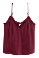 Satin strappy top - Burgundy - Ladies | H&M 2