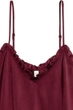 Satin strappy top - Burgundy - Ladies | H&M 3