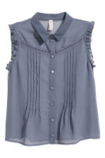 Sleeveless blouse - Pigeon blue -  | H&M 2