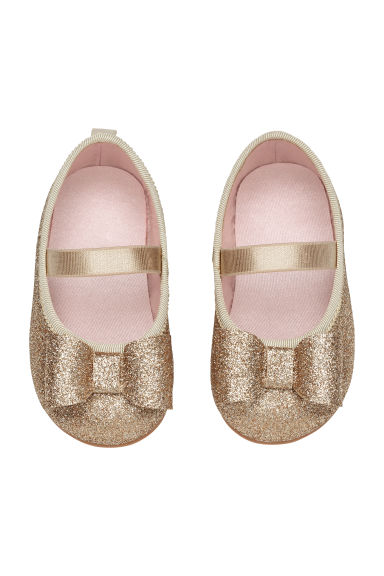 Ballet pumps - Gold-coloured/Glitter - Kids | H&M