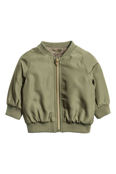 Padded bomber jacket - Khaki green - Kids | H&M CN 1