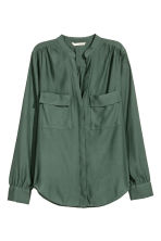 Crêpe blouse - Dark green - Ladies | H&M GB 2