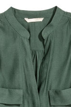 Crêpe blouse - Dark green - Ladies | H&M 3