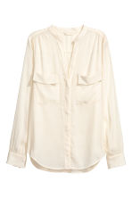 Crêpe blouse - Natural white - Ladies | H&M CN 2