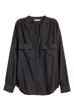 Crêpe blouse - Black - Ladies | H&M CN 2