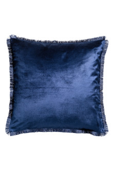 Fringe-trimmed cushion cover
