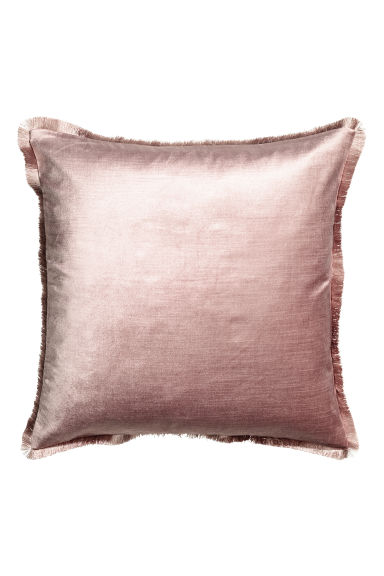Fringe-trimmed cushion cover - Dusky pink - Home All | H&M CA 1