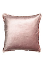 Fringe-trimmed cushion cover - Dusky pink - Home All | H&M CN 1