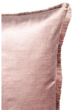 Fringe-trimmed cushion cover - Dusky pink - Home All | H&M CN 2