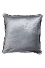 Fringe-trimmed cushion cover - Grey - Home All | H&M CN 1
