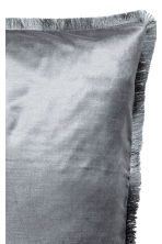 Fringe-trimmed cushion cover - Grey - Home All | H&M CN 2