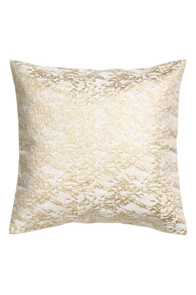 Jacquard-weave cushion cover - White/Gold - Home All | H&M CN
