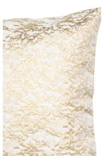 Jacquard-weave cushion cover - White/Gold - Home All | H&M CN 2