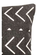 Cotton canvas cushion cover - Charcoal gray/patterned - Home All | H&M CA 3