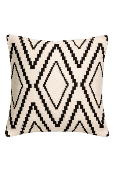 Jacquard-weave cushion cover - Natural white - Home All | H&M CN 1