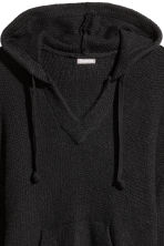 Knitted hooded jumper - Black - Men | H&M IE 2