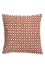 Jacquard-weave cushion cover - White/Orange - Home All | H&M IE 2