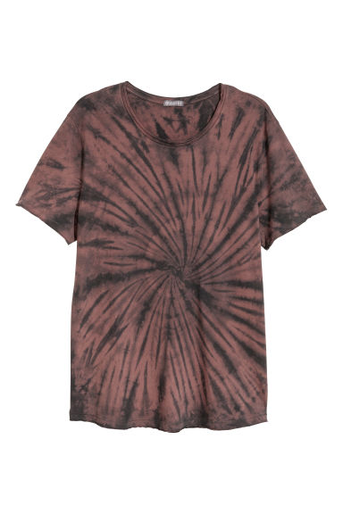 T-shirt com estampado batique - Castanho -  | H&M PT 1