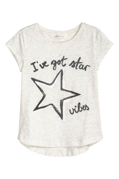 Generous fit Jersey top - Grey - Kids | H&M CN 1