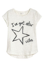Generous fit Jersey top - Grey - Kids | H&M 1