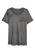 Burnout-patterned T-shirt - Dark grey marl - Men | H&M CN 2