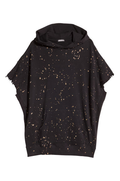 Sweat-shirt à capuche - Noir/décoloré -  | H&M BE