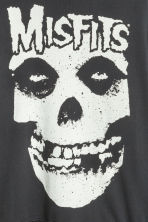 Printed hooded top - Black/Misfits - Men | H&M CN 2