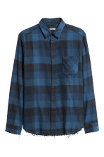 Blue/Black checked