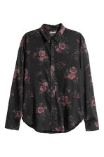Viscose shirt - Black/Roses - Men | H&M 2