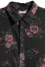 Viscose shirt - Black/Roses - Men | H&M 3