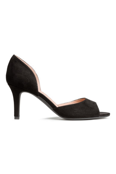 Peep-toe court shoes - Black - Ladies | H&M 1
