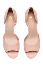 Peep-toe court shoes - Powder beige - Ladies | H&M CA 2