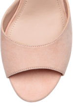Peep-toe court shoes - Powder beige - Ladies | H&M 4