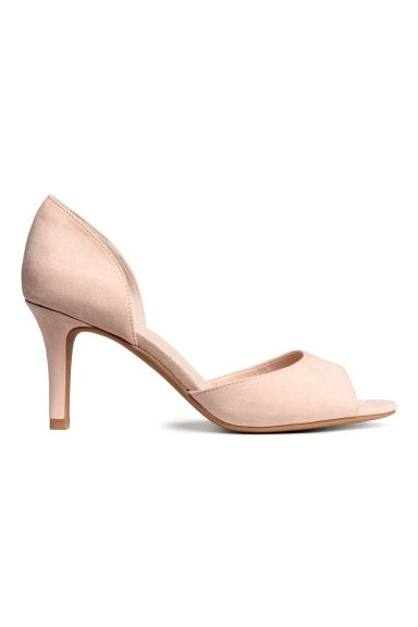 Peep-toe court shoes - Powder beige - Ladies | H&M CA 1