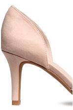 Peep-toe court shoes - Powder beige - Ladies | H&M CA 3