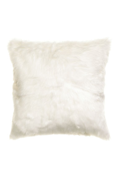 Faux fur cushion cover - Natural white -  | H&M IE