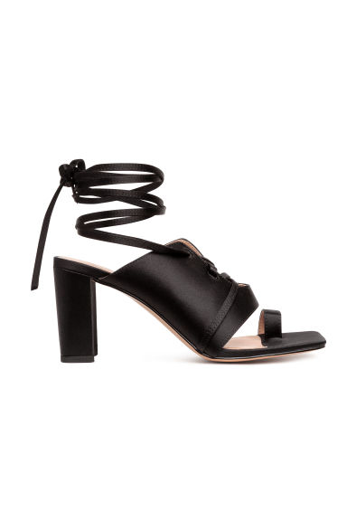 Sandals with lacing - Black - Ladies | H&M IE