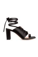 Sandals with lacing - Black - Ladies | H&M 1