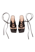Sandals with lacing - Black - Ladies | H&M 2