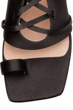 Sandals with lacing - Black - Ladies | H&M 3