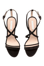 Suede sandals - Black - Ladies | H&M 3