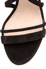 Suede sandals - Black - Ladies | H&M 4