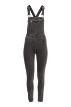 Denim dungarees - Black washed out -  | H&M CN 2