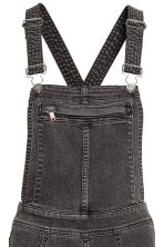 Denim dungarees - Black washed out -  | H&M CN 4