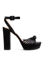 Platform sandals - Black - Ladies | H&M CN 1