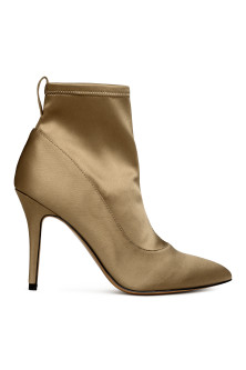 Satin ankle boots