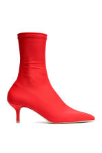 Sock-style court shoes - Bright red - Ladies | H&M CN 2