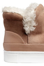 Lined hi-tops - Camel - Ladies | H&M 4